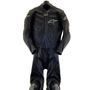alpinestars two-piece leather motorcycle suit Jack
